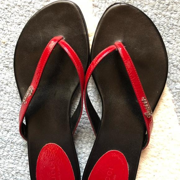 aa7342fb7 Gucci Shoes - Red Gucci women s thong sandal